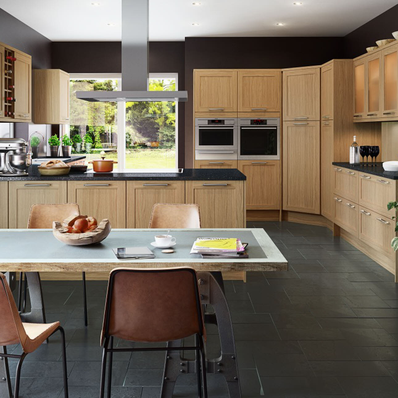 Winchester Oak shaker kitchen