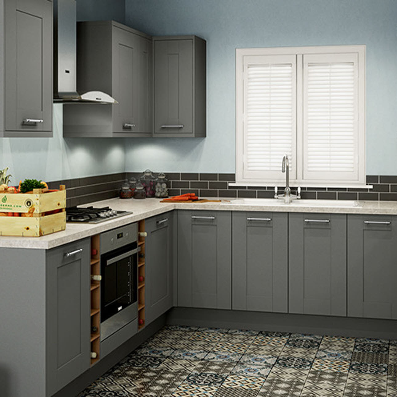 Winchester Grey shaker kitchen