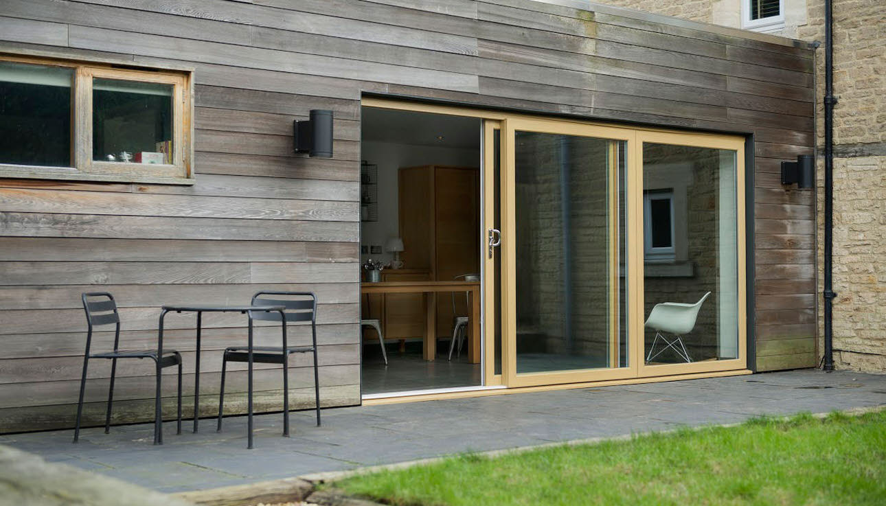 Light Wood Patio Doors