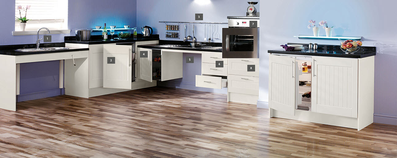 Accessibility kitchens ranges magnet trade for Accessible kitchen cabinets