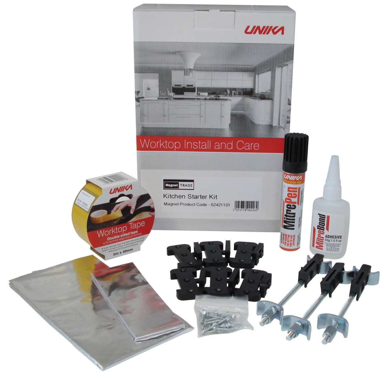 Black Kitchen Worktop Repair Kit