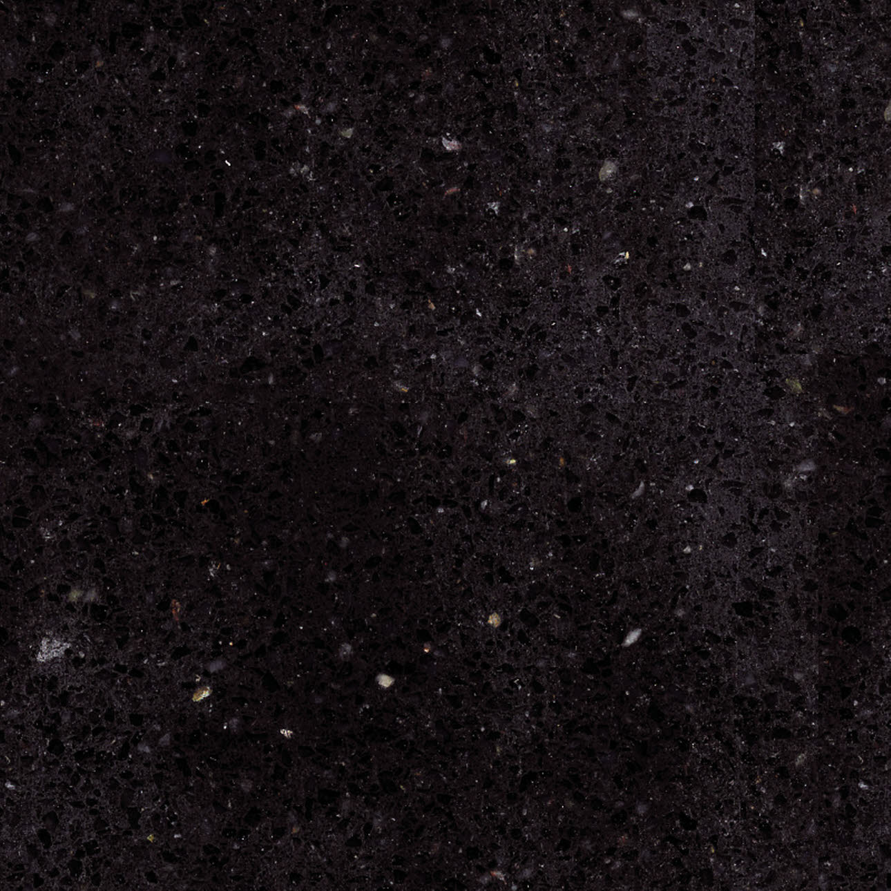 Nebula black granite kitchen worktop, close up