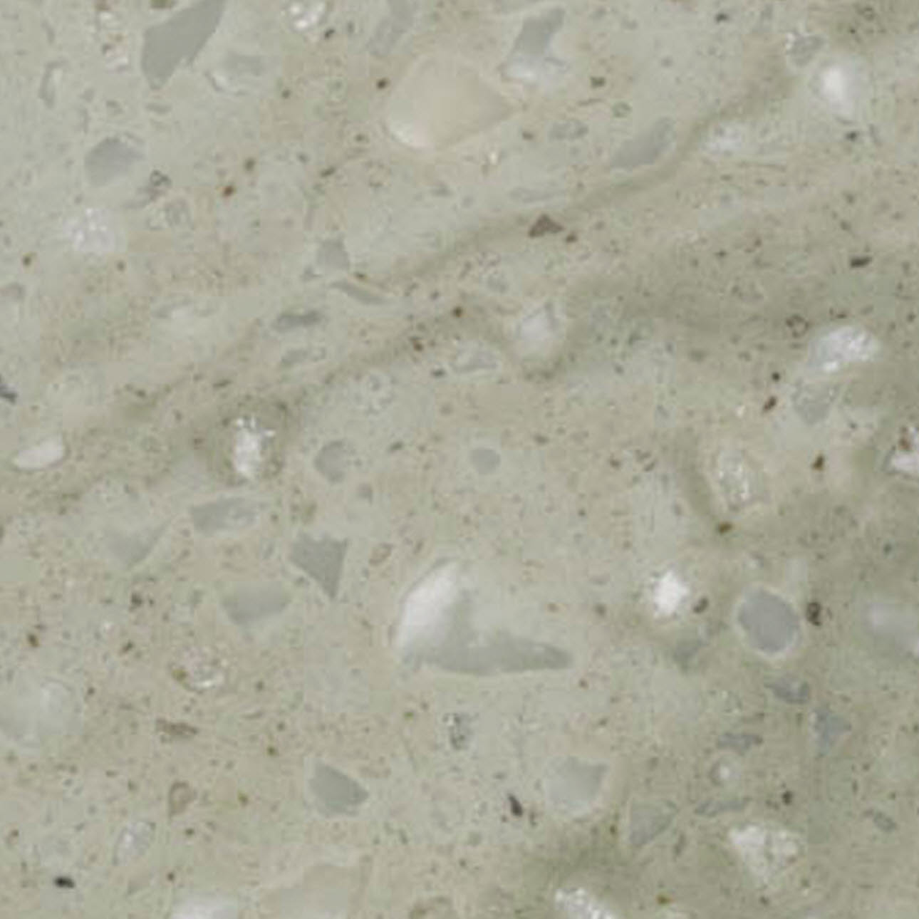 Close up of sagebrush granite kitchen worktop