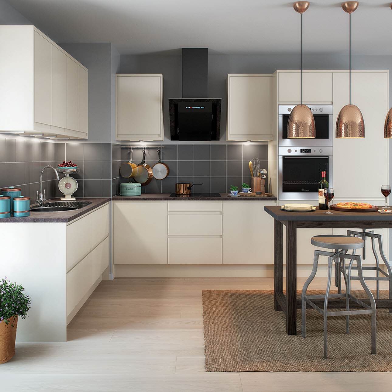 Magnet Kitchens City Cream