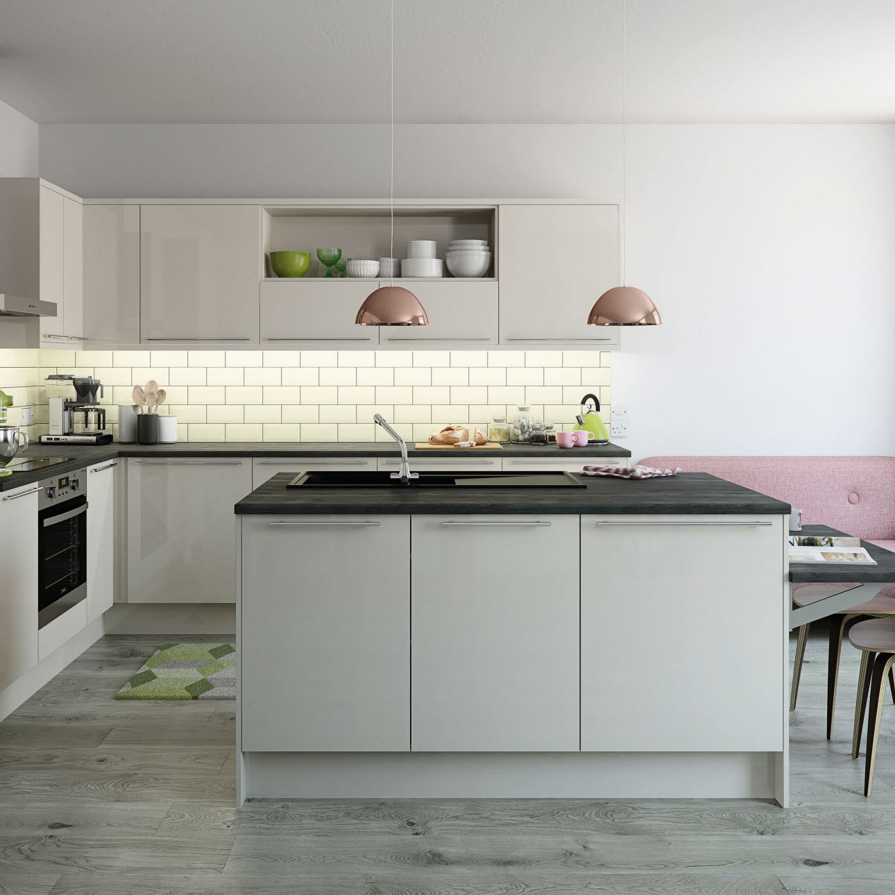 Black And Cream Kitchen Accessories: Social Housing Contract Kitchens