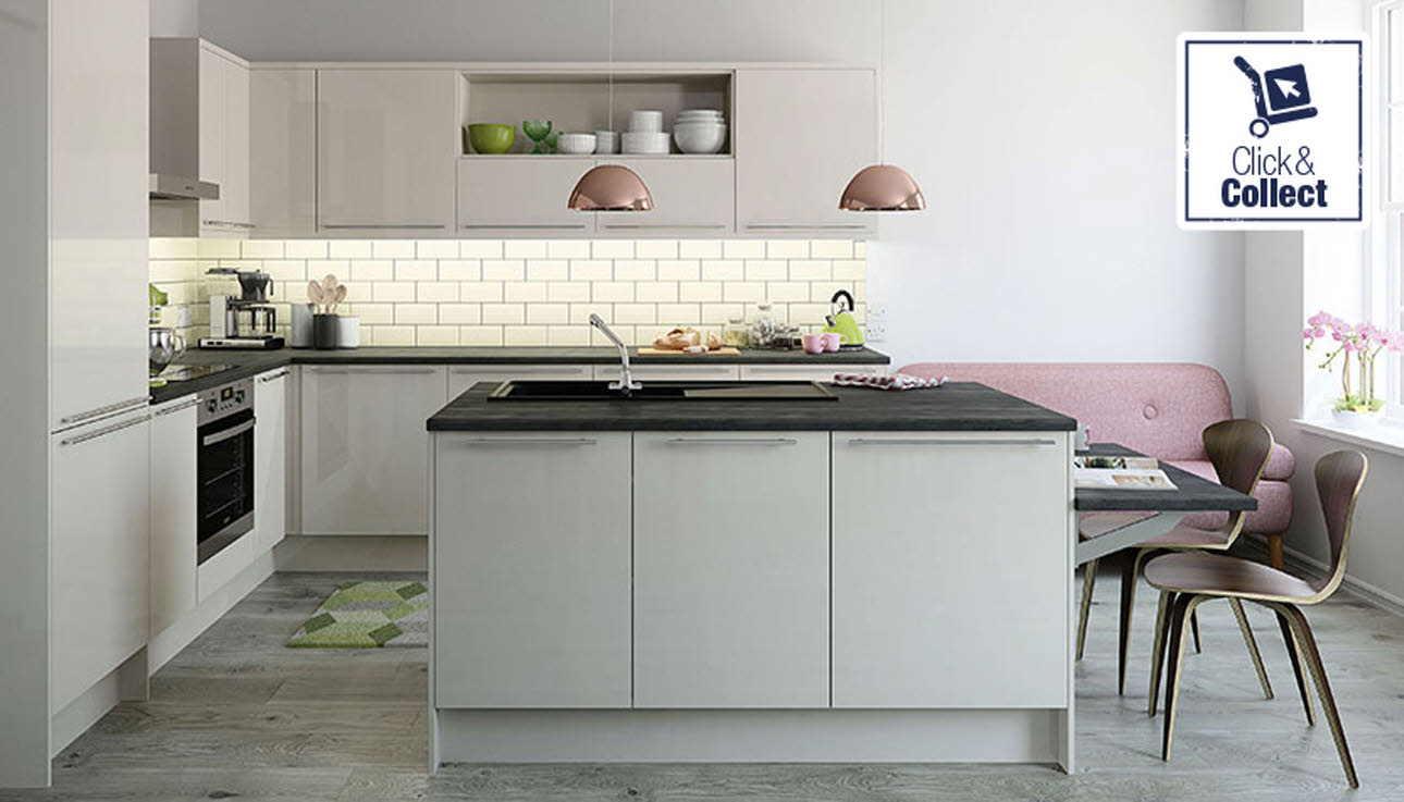 Magnet Nova Cream kitchen available by click & collect