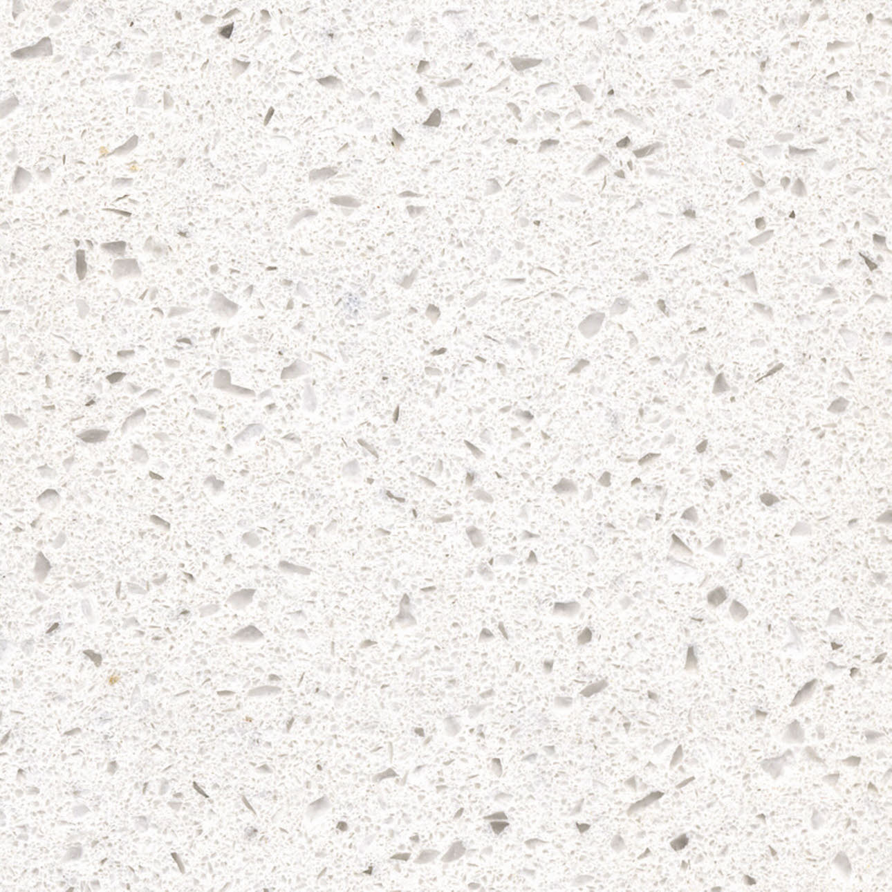 Nieve white granite kitchen worktop, close up