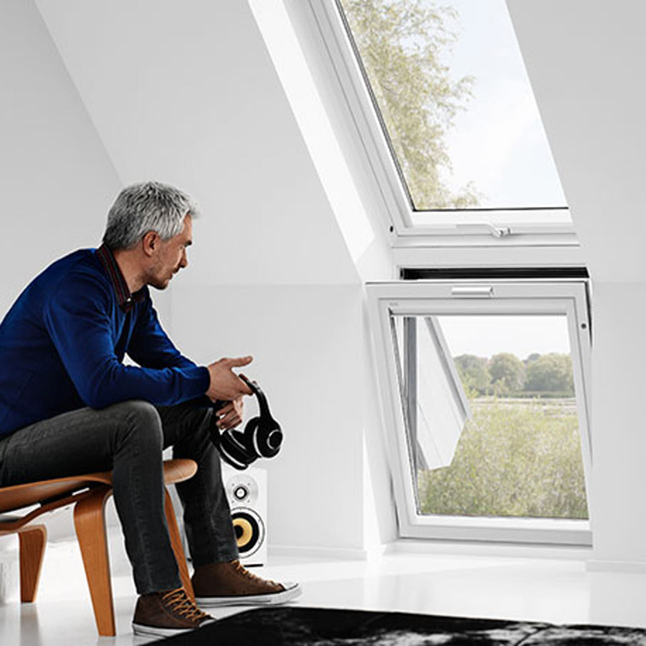 Combination of installed Velux windows