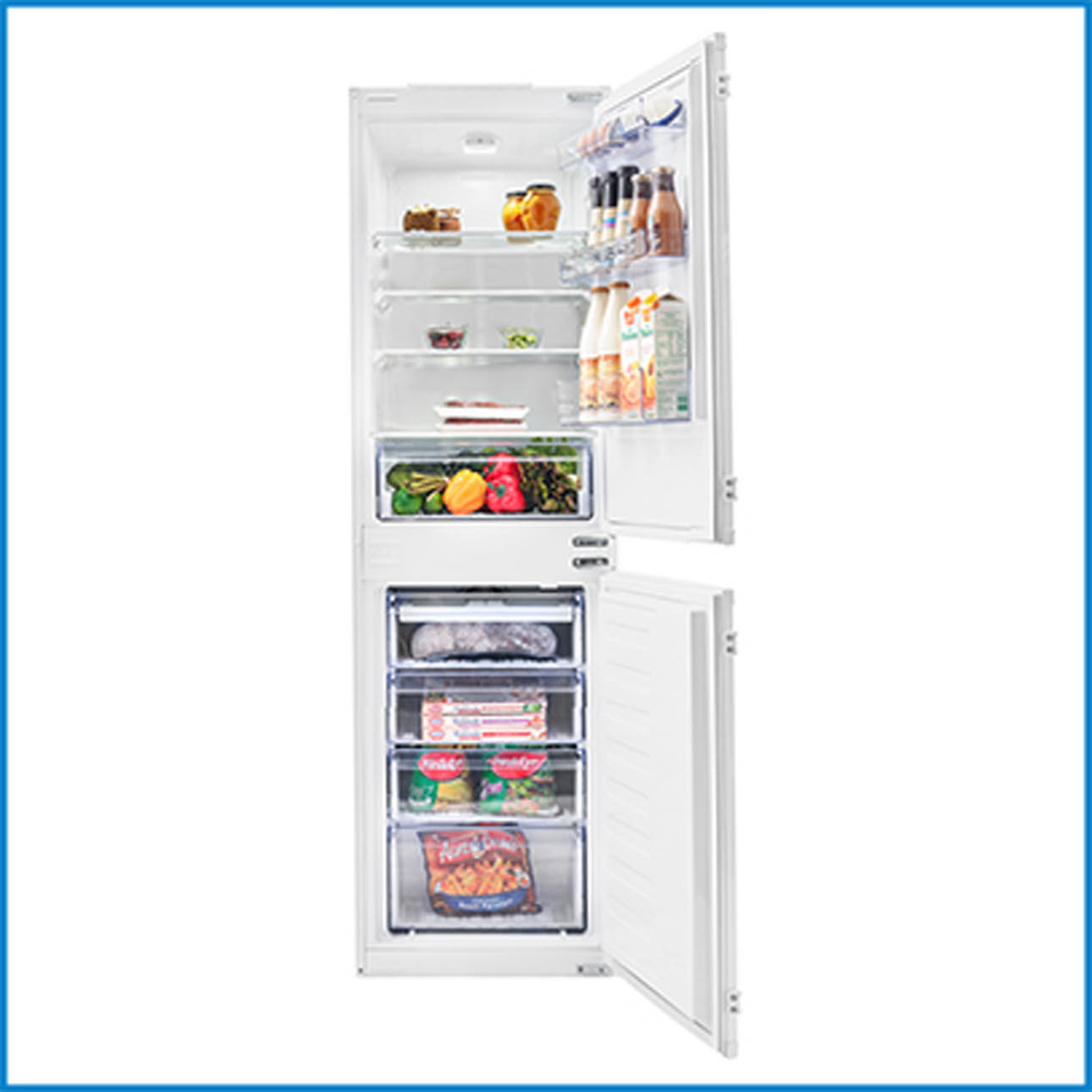Beko Fridge freezer, door open