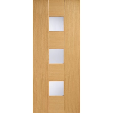 Catalonia Oak Glazed Internal Door