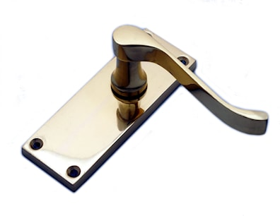 Victorian Scroll Latch Polished Chrome Plated