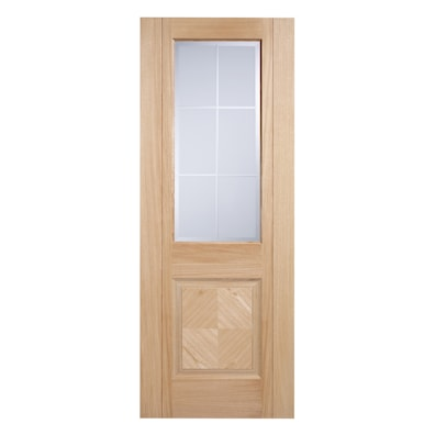 Valencia Oak Glazed Internal Door