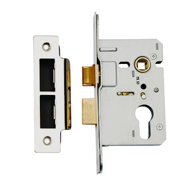 Euro Profile Mortice Sashlock 76mm Stainless Steel