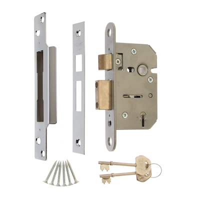 5 Lever Mortice Sashlock 64mm Chrome Effect