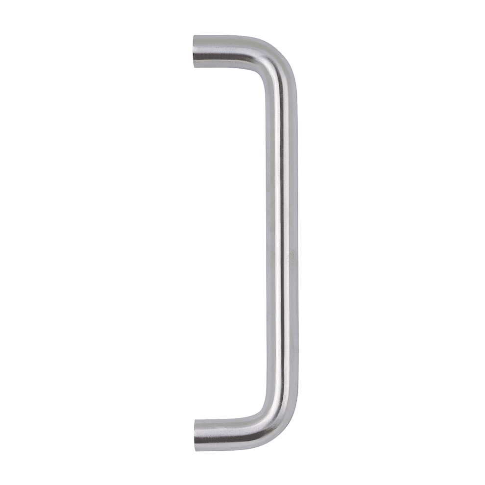 Round Bar Pull Handle 225mm And 30mm Push Plate Satin