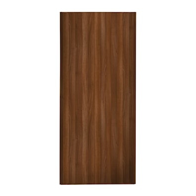 Heritage 762mm 1 Panel Sliding Door with Walnut Frame