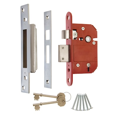 Fortress 5 Lever Sashlock 64mm Satin Chrome Effect BS3621