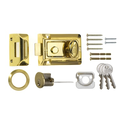 Traditional Door Lock 60mm Brass
