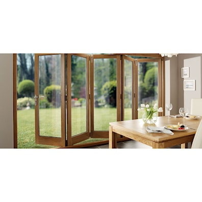 Solid Oak Pre-finished External Bifold Doors 1790-3590 x 2090mm