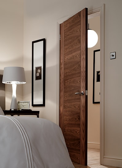 Walnut 4 Panel V Groove Internal Door