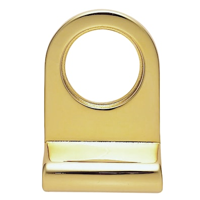 Cylinder Door Pull Polished Brass