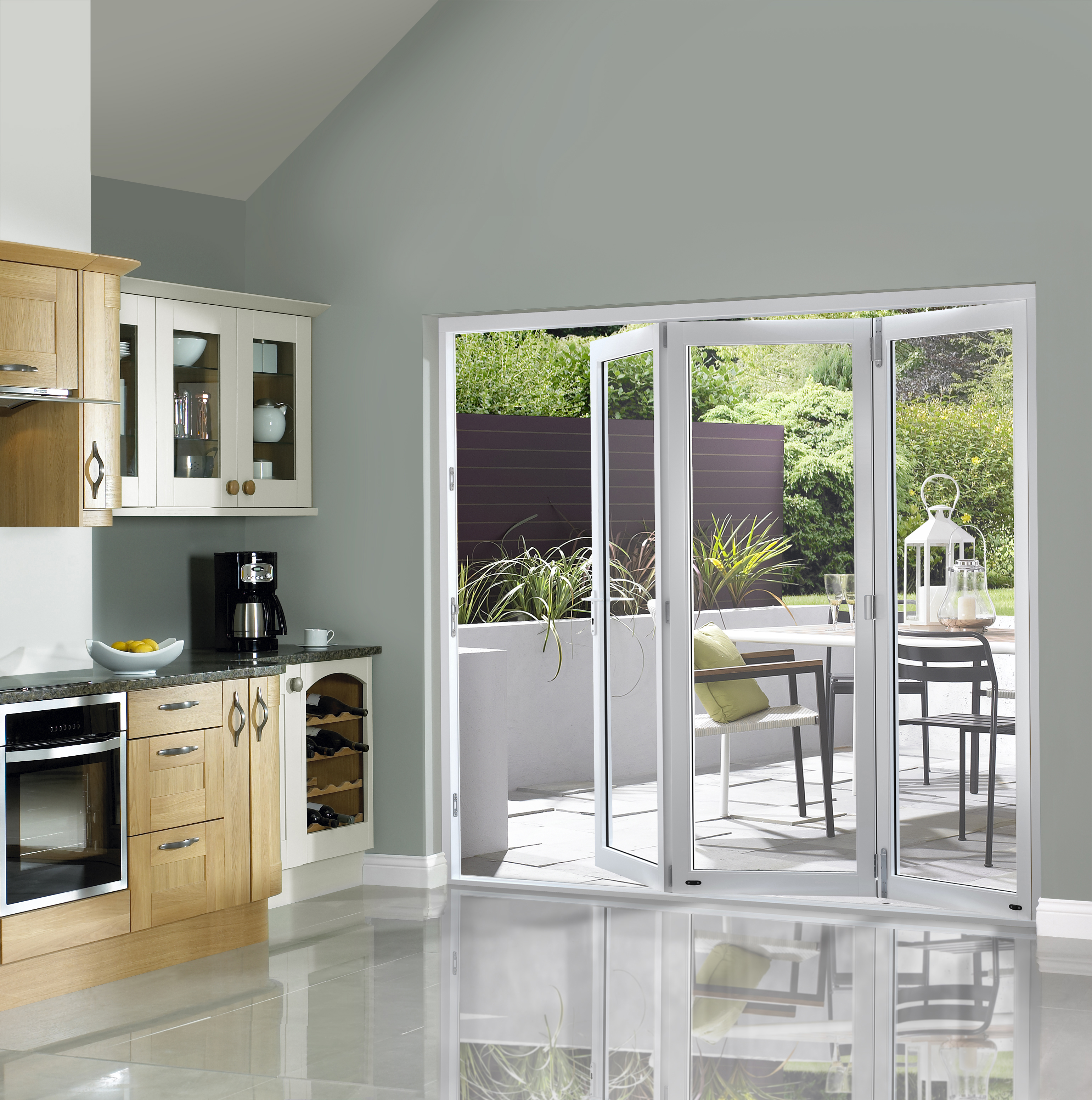 White Pre-finished External Bifold Doors ...  sc 1 st  Magnet Trade & External Bifolding Doors | Bifolding Doors | Magnet Trade