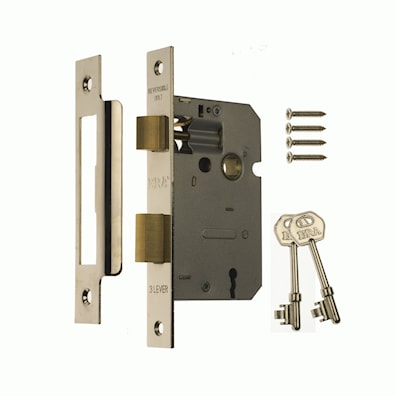 3 Lever Mortice Sashlock Satin Effect