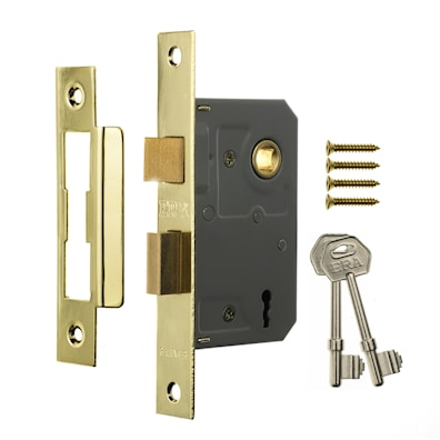 3 Lever Mortice Sashlock Brass Effect