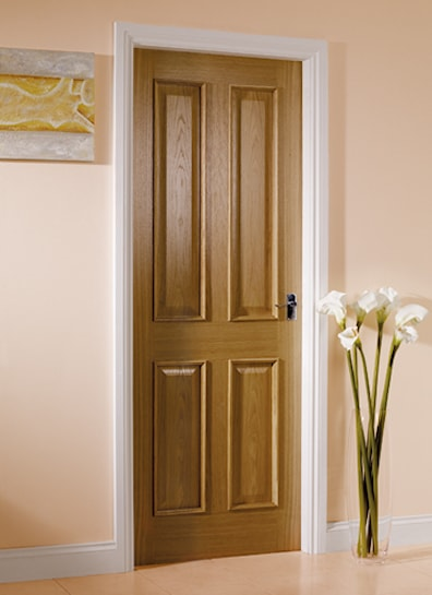 4 Panel Oak Internal Door