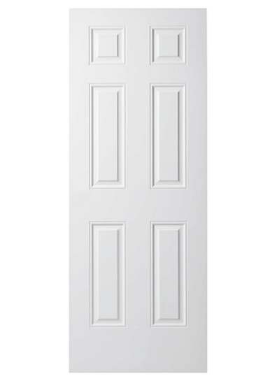 6 Panel Grained Internal Fire Door