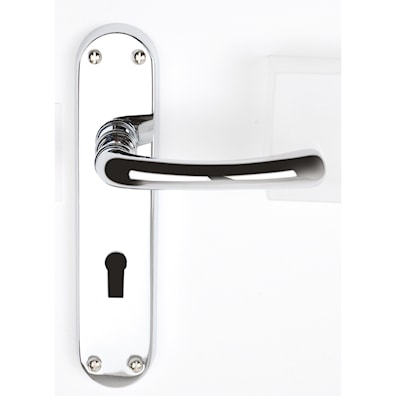 Genoa Lock Lever Polished Chrome Plated