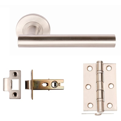 Zenith Latch Lever Pack Satin Stainless Steel