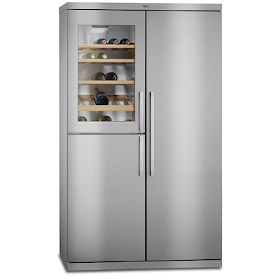 AEG RXE75911TM American Fridge Freezer with Wine Cooler