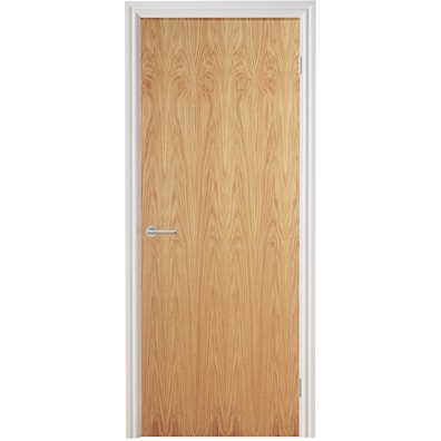Oak Flush Veneer Internal Fire Door