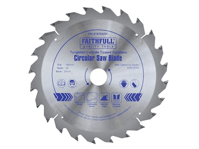 Faithfull 165Mm X 20Mm Bore Cordless Circular Saw Blade