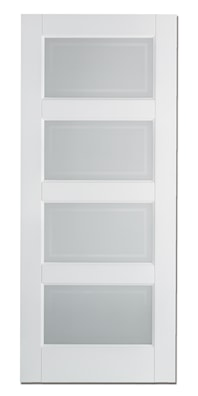 Contemporary 4 Light White Prime Glazed Internal Door