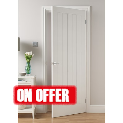 Mexicana White Grained Internal Fire Door