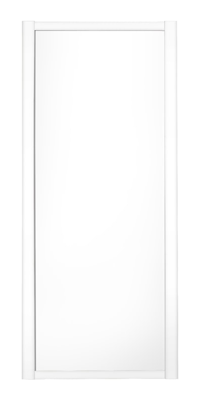 Shaker 1 Panel White Sliding Door and Frame