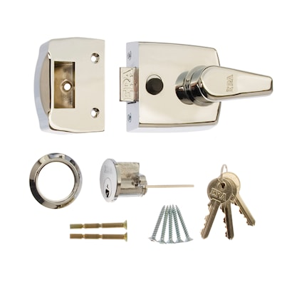 Replacement Door Lock 60mm Polished Chrome