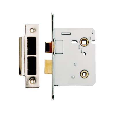 63mm Bathroom Mortice Lock - Bolt Through