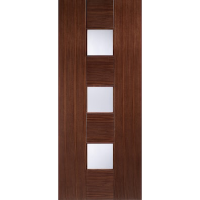 Catalonia Walnut Glazed Linea Internal Door