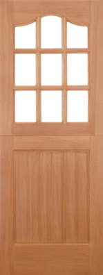 Stable 9 Panel Clear Glazed External Door
