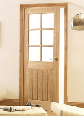 Mexicana Oak 6 Light Glazed Internal Door