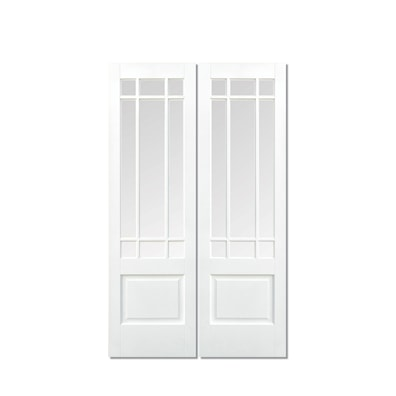 Downham Pair White Primed Glazed Internal Door