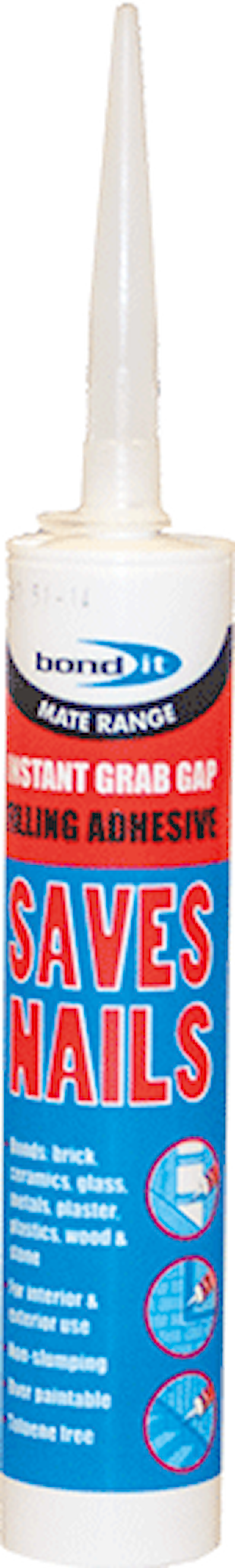 Instant Grab Saves Nails Adhesive