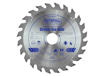 Faithfull 190Mm X 30Mm Bore Circular Saw Blade