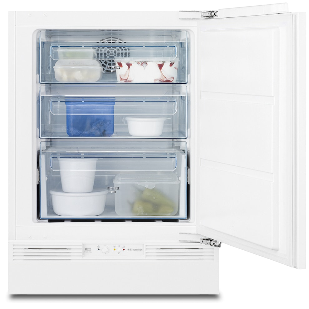 Electrolux eru0943fow integrated under counter freezer for Kitchen set electrolux
