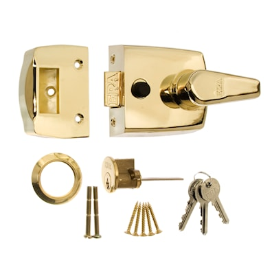 Replacement Door Lock 60mm Brass