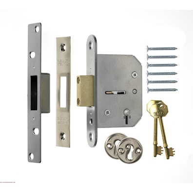 5 Lever Mortice Deadlock 64mm Chrome Effect