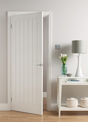 Mexicana White Grained Semi Solid Internal Door